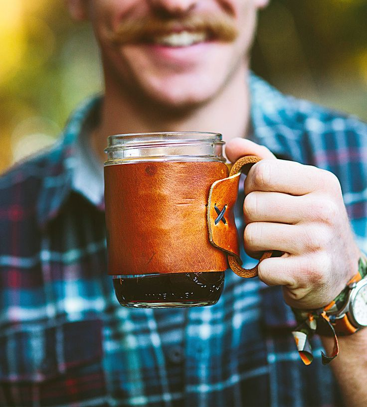 Aviator Leather Travel Mug | Built for those who take pride in their early morning habits, ... | Mugs