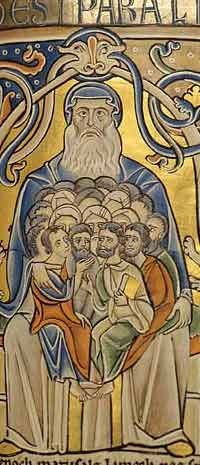 Souls in the Bosom of Abraham (Souvigny Bible about 1100 AD)