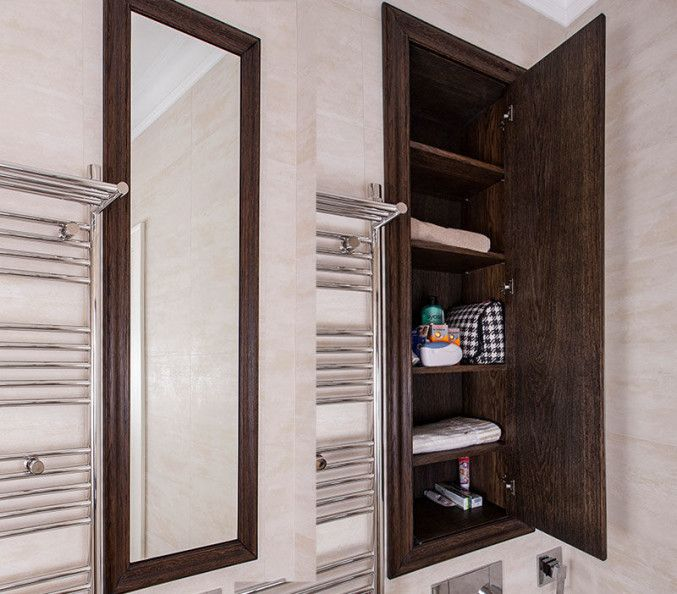 Встроенный шкафчик-зеркало