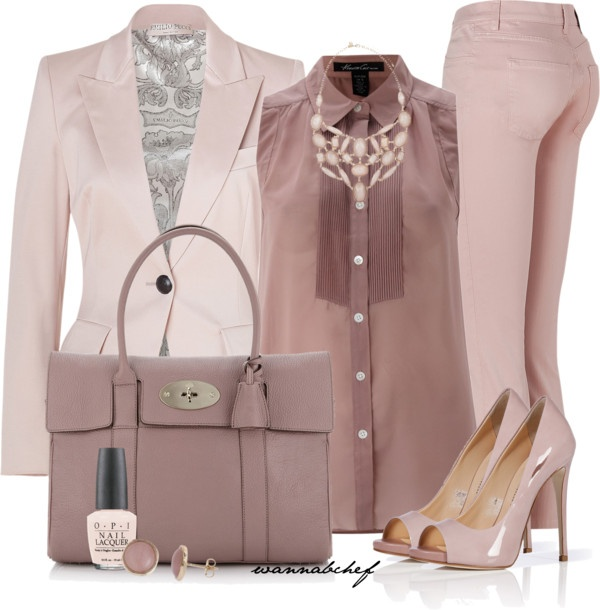 """Shades of Hue: Pink"" by wannabchef on Polyvore"
