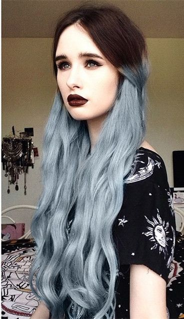 Brown to Granny Silver Two Color Ombre Hair style~ Inspirations of your 2015 summer hairstyles