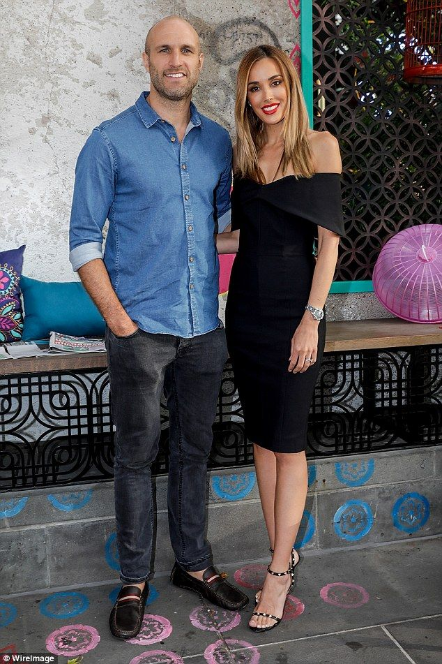 Day off: Rebecca and Chris Judd enjoyed an afternoon to themselves as they attended the official launch of Long Chim restaurant at Crown Melbourne on Thursday