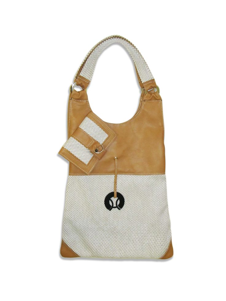 Extra light Step bag from cowhide and cotton fabric. A just enough sized women's bag from hegyiorsi Love&Bags.