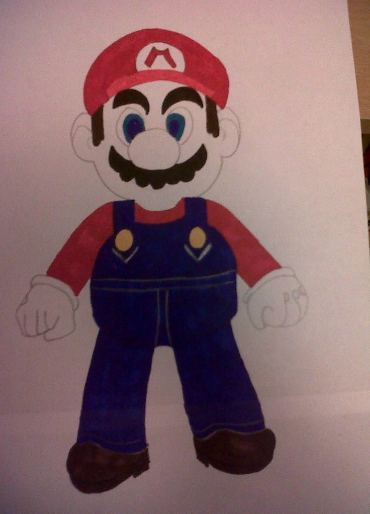 My attempt at drawing Mario