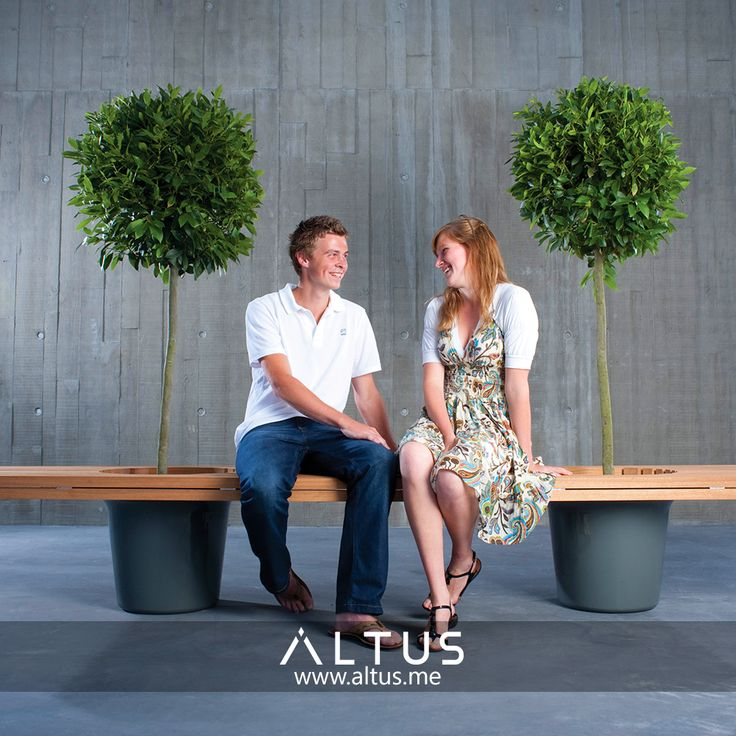 Romeo & Juliet from Extremis. www.Altus.me #luxury #furniture #outdoor #design #garden #park #industrial #trees #pots