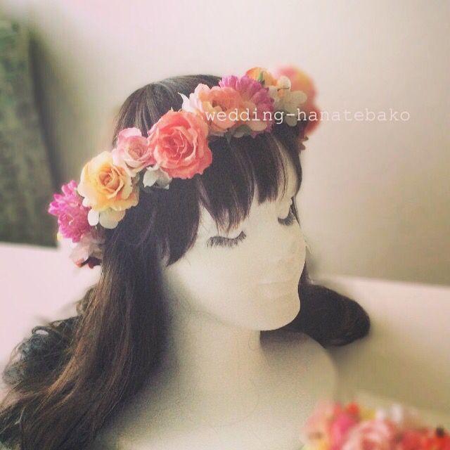 ミックスカラーの花冠