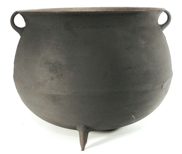 antique 10 gal cast iron large ribbed camp fire kettle cauldron gypsy cook pot unbranded