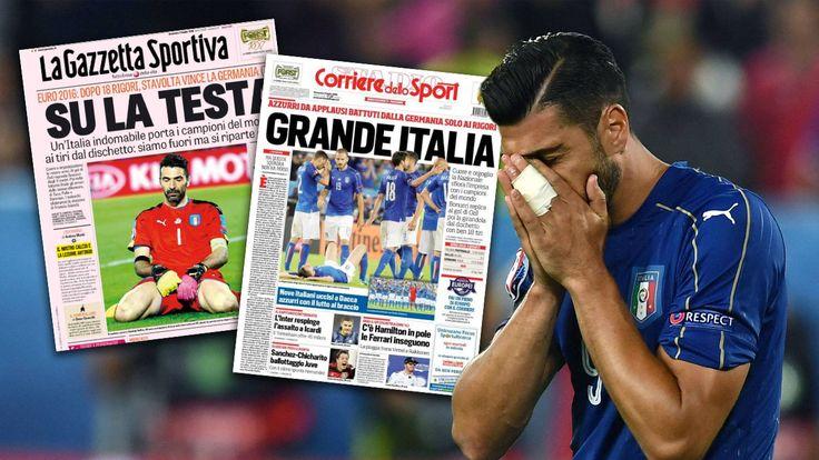 Deutschland besiegt Italien im irren Elferschießen. Die internationale Presse schreibt begeistert von dem Viertelfinal-Kracher.