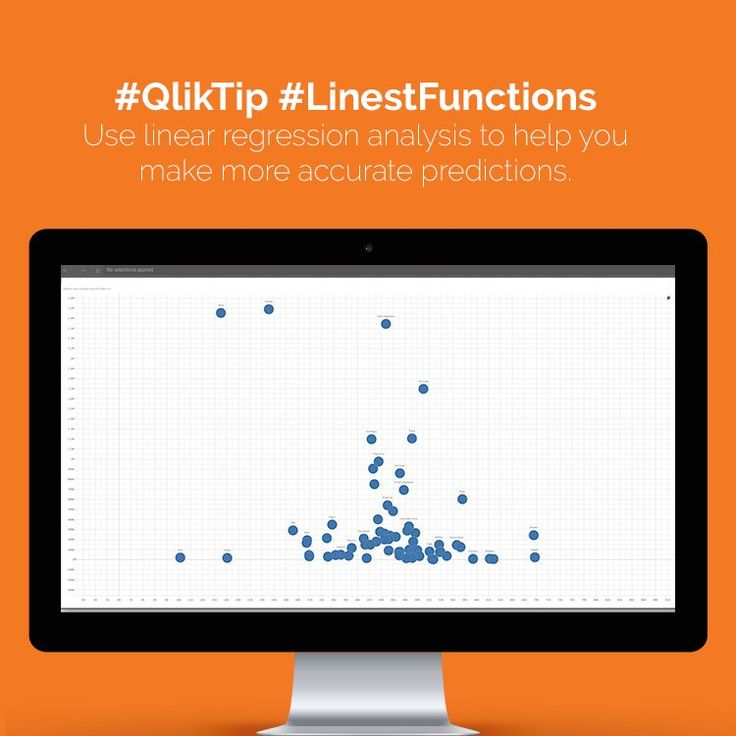 #QlikTip: Use linear regression analysis to help you make more accurate predictions. #data #analytics #qlik