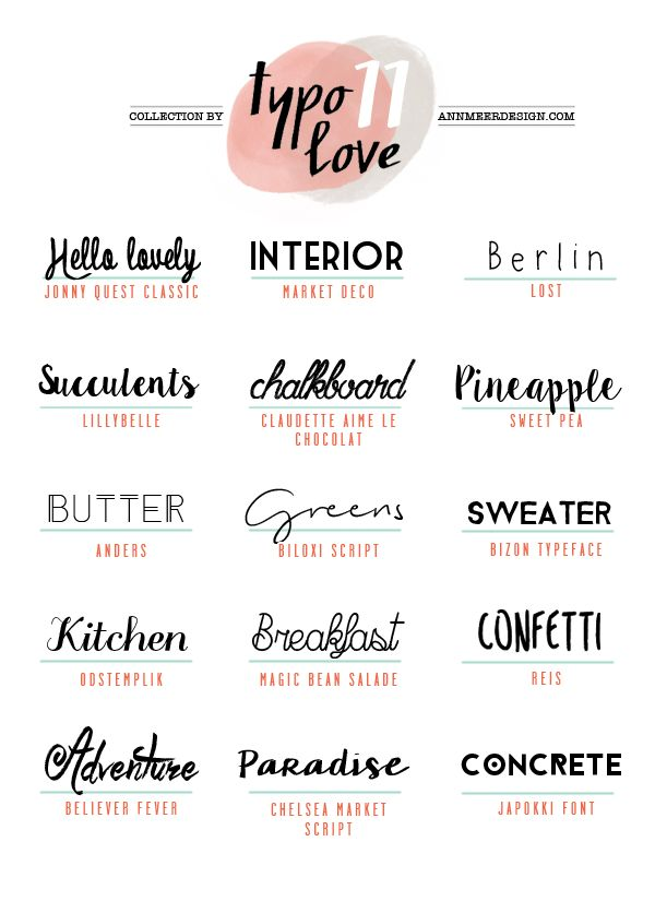 Ann.Meer by Anna-Maria Dahms: Lovely Fonts #11