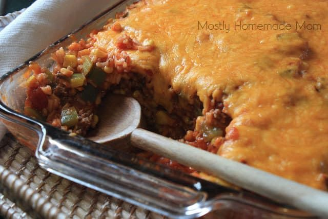 Stuffed Pepper Casserole Mostly Homemade Mom Recipe Stuffed Pepper Casserole Stuffed Peppers Recipes