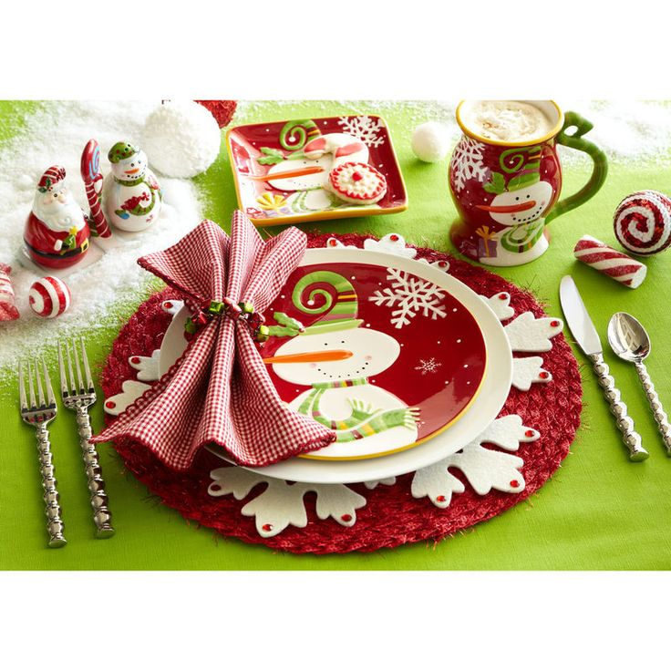 Holiday Place Settings: Christmas Place Settings: Oh What Fun