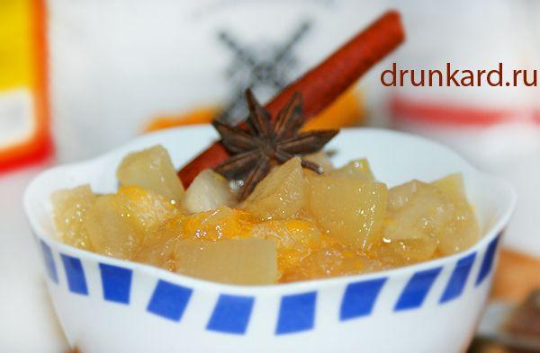 Варенье из кабачков, яблок и мандаринов