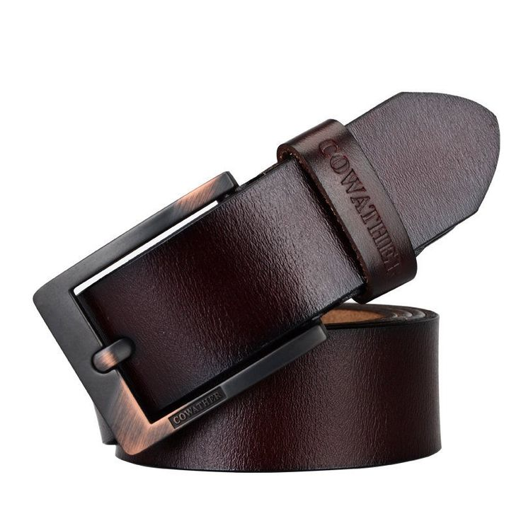 Pin Buckle Cow Genuine Leather Ceinture Mens Belts