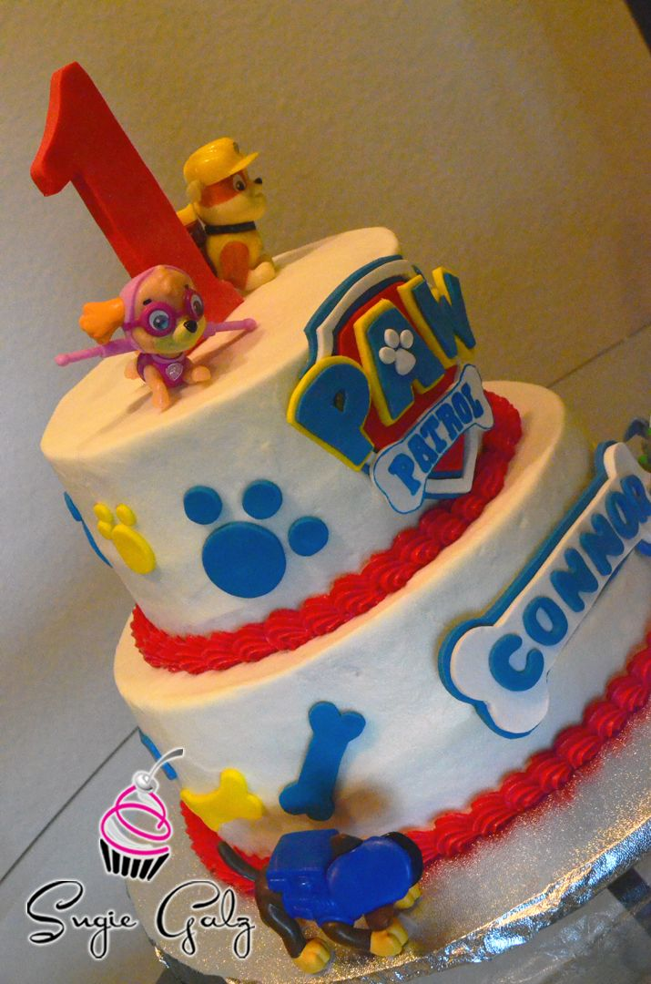 Paw Patrol First Birthday Cake In Austin Texas By Sugie Galz