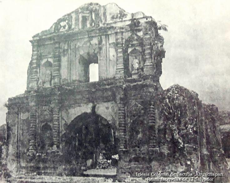 """Iglesia Colonial """"Santa Lucia"""" en Tacuba ,Ahuachapan. Entre los años 1605 y 1612 se comenzó la construcción de la iglesia Santa Lucía por iniciativa del Padre Jacinto Jaime junto al experto en construcción Juan Clemente."""