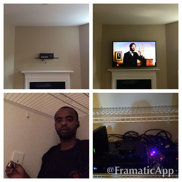 60 Quot Samsung Plasma Full Motion Wall Mount And Soundbar Installation Over The Fireplace With Hdmi