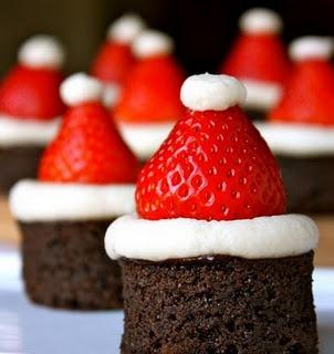 Santa Hat on a Strawberry....