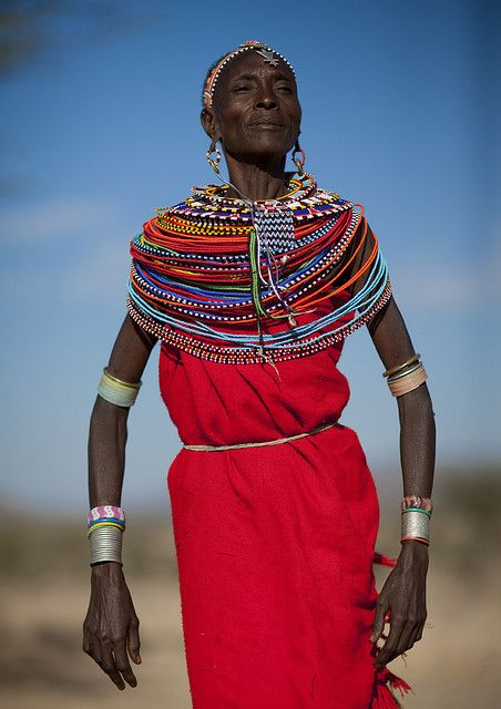 Old Samburu godess woman - Kenya