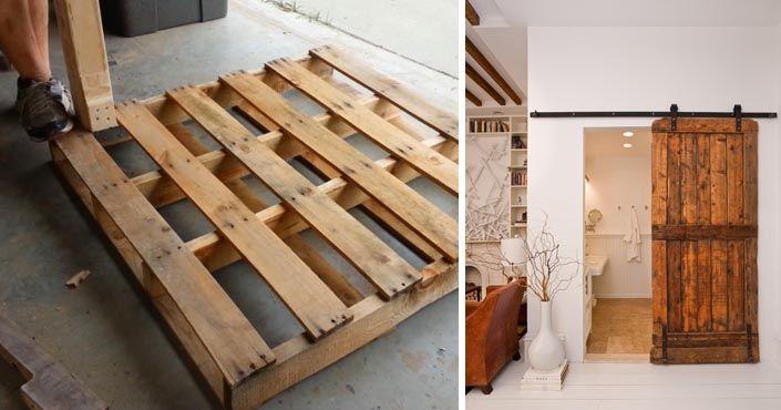Tieto inšpirácie vám ukážu, aké krásne posuvné dvere vo vidieckom štýle sa dajú vyrobiť z drevených paliet! DIY nápady na posuvné dvere z paliet