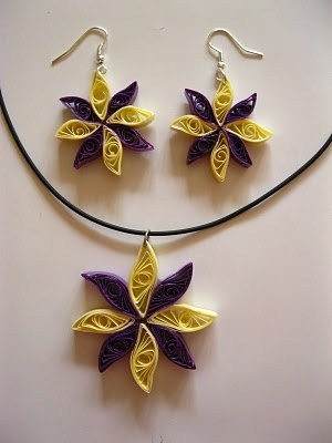 What Paper?: Quilled Earrings & Pendant Sets