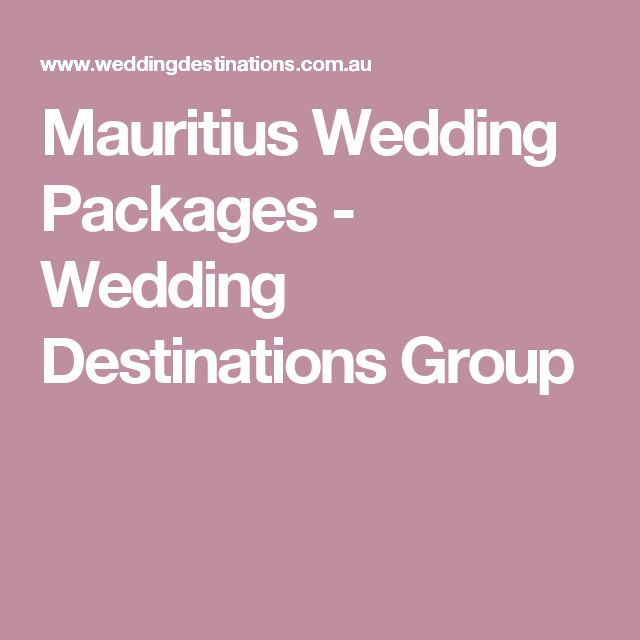 Mauritius Wedding Packages - Wedding Destinations Group