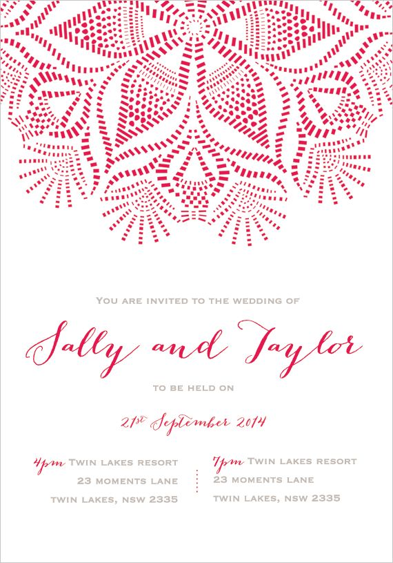 Sica Wedding Invitations | the white notebook #wedding #engaged #invitation #invitations #romantic #modern #love #cursive #pattern #watermelon