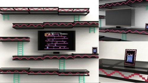 Donkey Kong modular shelving.