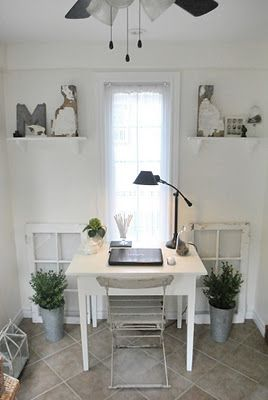 sunroom office from the grower's daughter