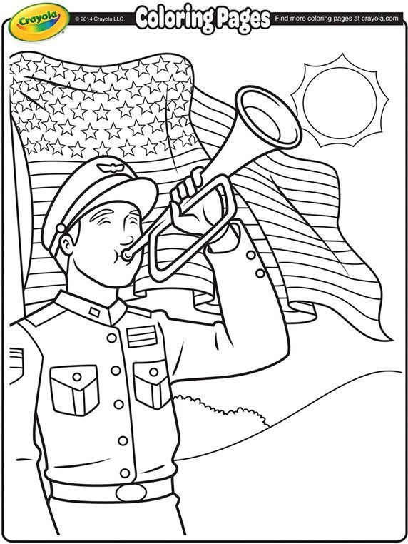 Clairon Du Memorial Day Sur Crayola Com In 2020 Memorial Day Coloring Pages Free Coloring Pages Coloring Pages For Kids