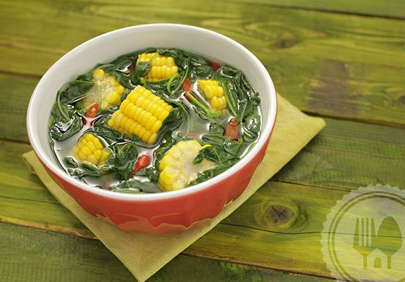 SAYUR BENING BAYAM. Cooking spinach vegetable nodes only takes a few moments. If too long, mushy and spinach will disappear texture. Immediately move to a serving bowl if the taste is difficult fitting