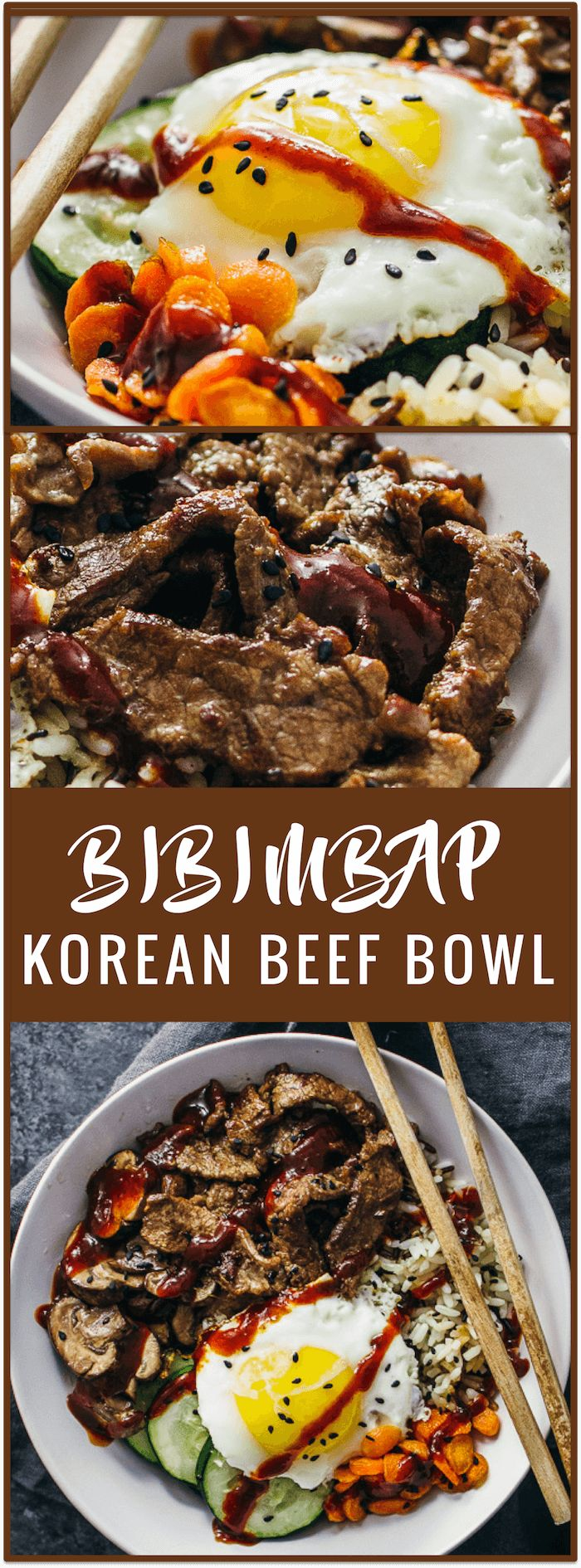 bibimbap | korean beef bowl | korean rice bowl | bibimbap sauce | bibimbap bowl | how to eat bibimbap | korean beef marinade | easy recipe | asian beef | asian bowl | spicy | sponsored #riceonthego via @savory tooth