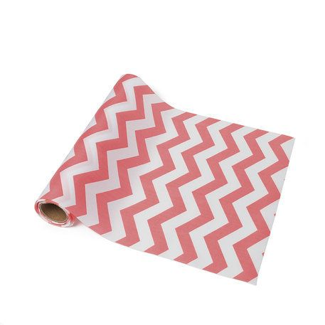 chemin de table chevron corail