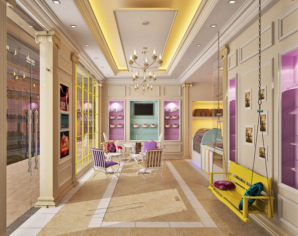 Sugaholic Cup Cake Shop Interior By Imran Khan Via Behance