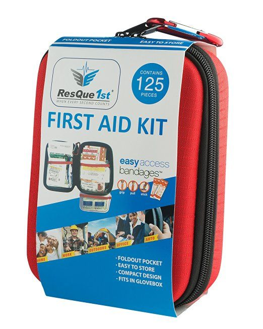 ResQue1st Hard Shell Complete First Aid Kit 125-Piece
