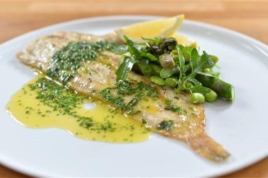 Rachel Allen's baked Dover sole with herb butter recipe