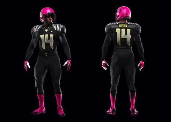 Oregon to wear pink helmets and cleats for Breast Cancer Awareness - love the ducks