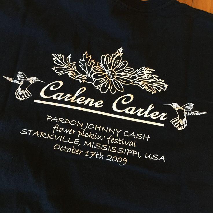 Carlene Carter Johnny Cash Concert Shirt