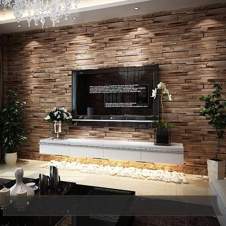 PVC Wood Stone Brick 3D Modern Luxury Classic Vintage Wallpaper