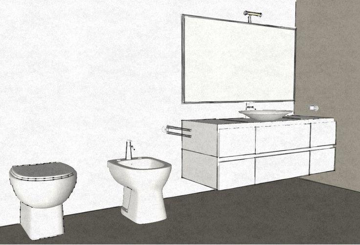 Progettazione bagno con vasca