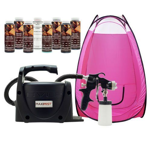 SPECIAL EDITION HVLP MaxiMist Pro Black Tanning Machine Airbrush DHA Spray Tent by MaxiMist. Save 34 Off!. $359.00. Pop Up Spray Tent Included. Easy to use. Convenient for travel. Must have for any professional. 8 DHA Solutions also included. You won't find another TrueHVLP system anywhere that has been completely designed just for the application of Airbrush Spray Tanning Solutions. Tampa Bay Tan has teamed up with Earlex, one of the largest manufactures of HVLP Spray Systems in ...