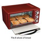 Hamilton Beach 6 Slice Toaster Oven Red Convection Baking Broiler Toast Cooking