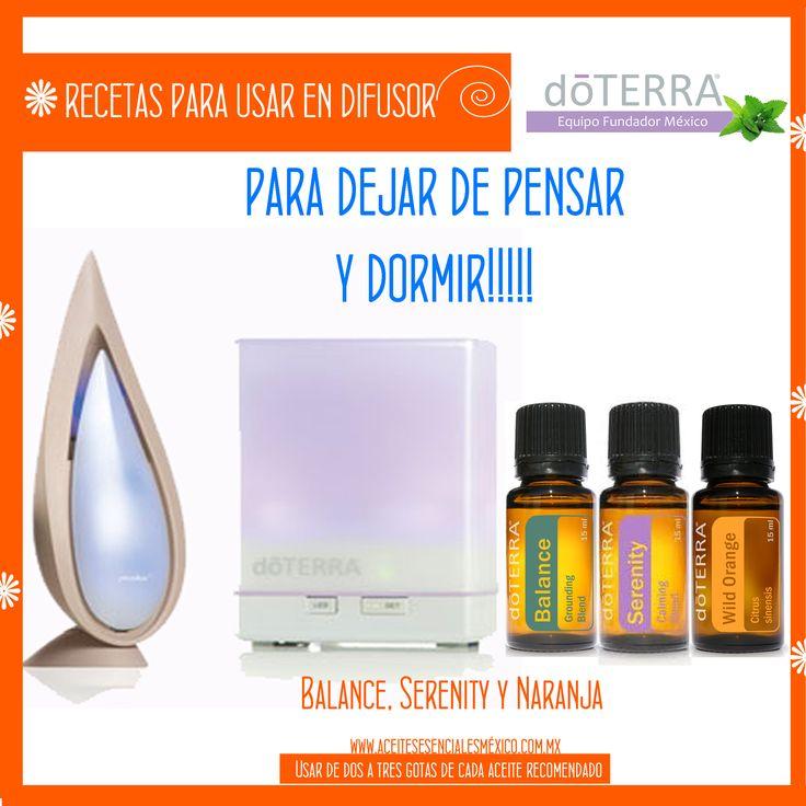 Usos para tu #difusor y #aceites esenciales #doterra #balance #serrenity y #naranja Para dejar de pensar y dormir!