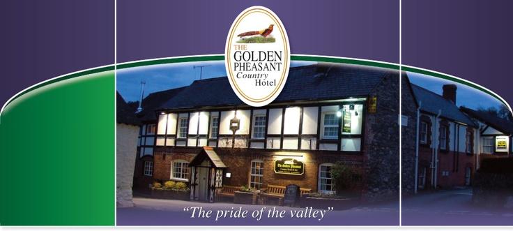 The Golden Pheasant Inn in the Ceiriog Valley.