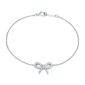 Tiffany & Co. | Item | Bow bracelet in platinum with diamonds - wish it wasnt $1800 :(