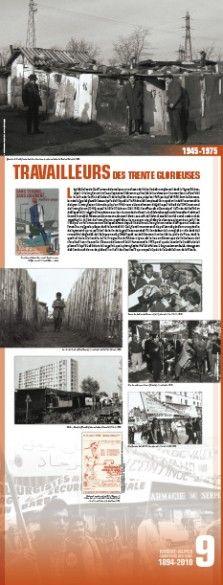 N°9 : Travailleurs des Trente-Glorieuses. L'après-Seconde Guerre mondiale marque un tournant de l'histoire des immigrations dans la région Rhône-Alpes: si les migrations intra-européennes restent majoritaires, les « coloniaux » commencent à affluer dès la sortie du conflit. © Groupe de recherche Achac