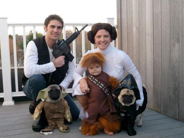 halloween. Star Wars family
