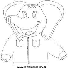 Výsledek obrázku pro slon omalovánka