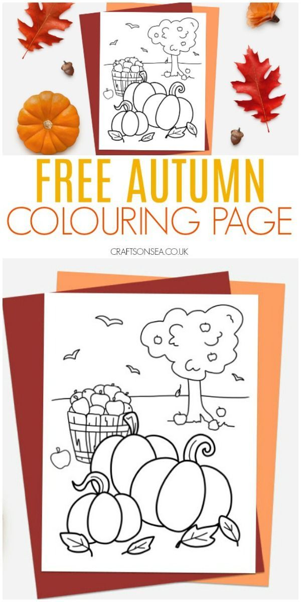 Free Autumn Colouring Pages Fall Kidscrafts Kidsactivities Fallcrafts Coloring Fall Crafts For Toddlers Coloring Pages For Kids Coloring Pages