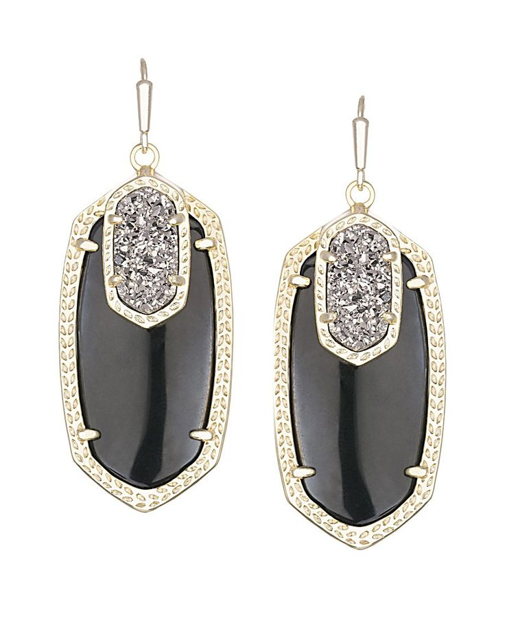 Emmy Drop Earrings in Black Galaxy - Kendra Scott Jewelry. Coming soon!